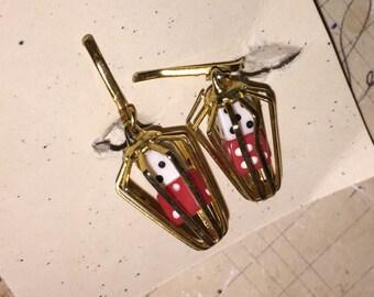 Vintage Dice Earrings