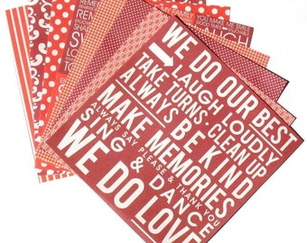 Crimson Red - 6x6 Recollections Home Basics Paper Pack