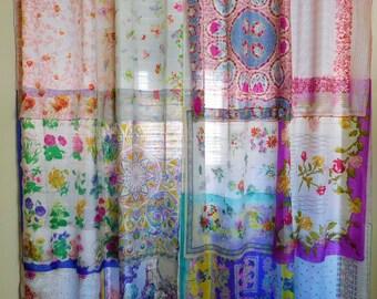 FAIRIES AND FLOWERS Bohemian Gypsy Curtains