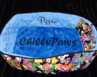 Bicycle Basket Liner for - Dogs - Pets - Includes Embroidered Personalization - Memory Foam Pad - Customize Your Colors and Patterns