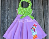 2T- Clearance Sale- Lavender Daisy Duck Dress, Daisy Duck Birthday Dress, Daisy Duck Vacation Dress, Daisy Duck Birthday Party Outfit