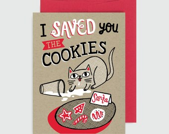 Holiday Card - Saved You the Cookies