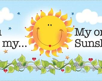 "You are my Sunshine....6"" x 12"" Fabric Art Panel"