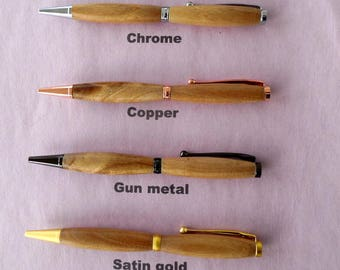 Catalpa from E. United States. Catalpa Funline Pen in 6 different metal finishes to choose from.