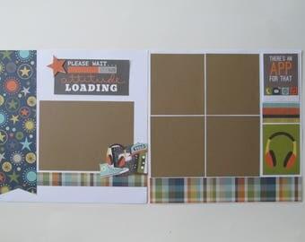 Boy Attitude 12x12 Scrapbook Layout, Scrapbook Page, Scrapbook Mini Album, Pre-Made Pages, Pre-Made Albums
