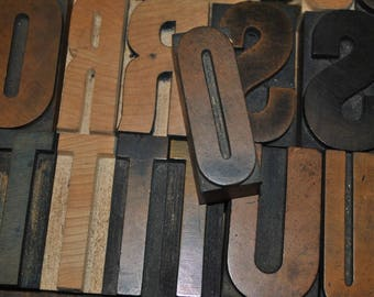 Letter O Vintage Wood Letterpress   Capital Letter O  Antique Letterpress Block 2.5 Inches Tall