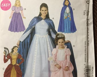 Girls' Cape and Dress Sewing Pattern McCall's 6420  Costumes Uncut complete