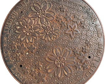 DOORMAT - Seattle Flowers Sewer Cover  - Original Photography