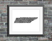 Tennessee typography map ...