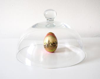 Clear Glass Vintage Bell Jar, Wide