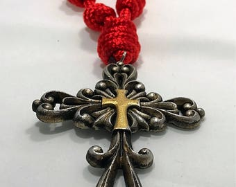 Stunning Door Rosary for Valentine's Day, Catholic Woman, Special Birthday, Chinese New Year. Handmade Religious Gift.