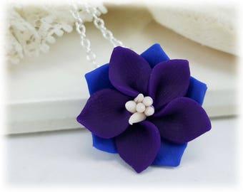 Purple Larkspur Necklace - Larkspur Jewelry Collection
