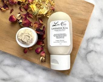 Lavender Rose Soap Free Face Wash Organic Handmade