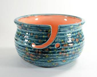 Large Pottery Yarn Bowl Koi Pond