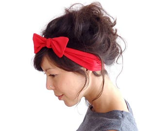 SALE SEE DESCRIPTION Red Skinny Bow Tie Headband