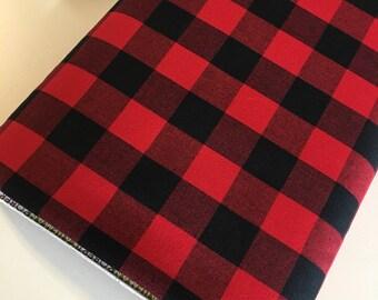 "Plaid Fabric, Apparel Fabric, DIY Plaid Scarf fabric, Carolina Gingham Fabric by Robert Kaufman, Buffalo Plaid, Plaid Scarf, 1""Gingham"