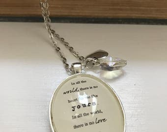 In all the world - Maya Angelou inspired quote literary necklace