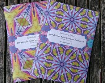 2 Handmade A5 Notebooks - Kaleidoscope Set 1