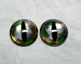 Dragon irises 21mm Metallic color Stellar Jasper