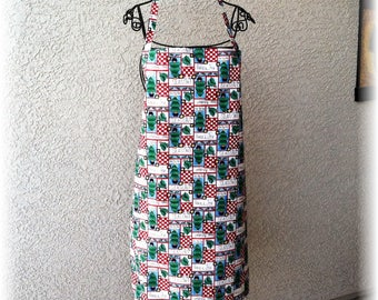 TRADITIONAL CHRISTMAS Full Apron--Any Size