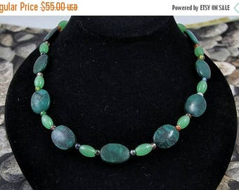 75% OFF CLEARANCE SALE Turquoise and Jade Jewelry Set