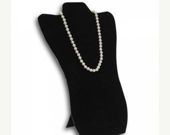 """30% Retirement Closeout - Necklace Easel, 9x14"""", Black Flocked, Padded, 1 piece, NI-NEBLFL-914-001"""