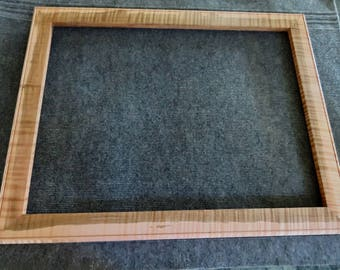 18x24 Quartersawn Curly Tiger Maple Picture Frame