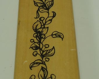 Berries On A Vine Wood Mounted Rubber Stamp By Anita's Leaves, Leaf, Berry, Greenery