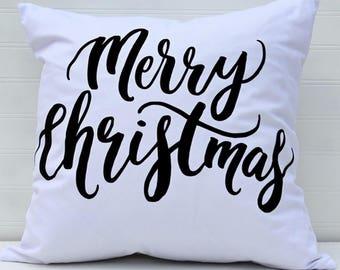 Merry Christmas Pillow Cover, Winter Pillow, Modern Pillow, Sofa Pillow, Living Room Decor Pillow, Christmas Decorative Pillow