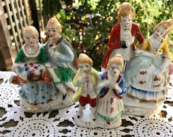 Lot of 3 Vintage Courting Couple Figurines