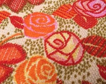 Vintage European fabric / roses / original 60s / flower / skirt / dress / trevira 2000