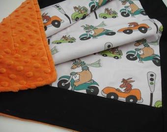 Go Llamas Go Minky Baby Security Blanket 25 x 25 READY TO SHIP