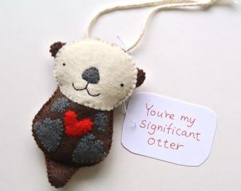 Otter Gift Otter Ornament Anniversary Gift for Men Funny Gift for Women Significant Otter Gift Spouse Gift Otter Plush Wife Husband Gift