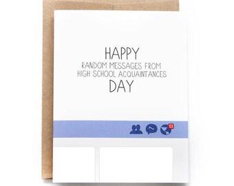 Funny Birthday Card - Random Facebook Acquaintances Day