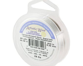 Silver Artistic Wire 28ga/40yrds AW2810S
