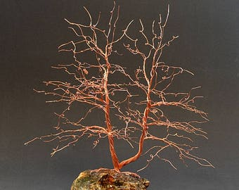 Hand Twisted Metal Copper Wire Tree Art Sculpture  - 2319 - FREE SHIPPING