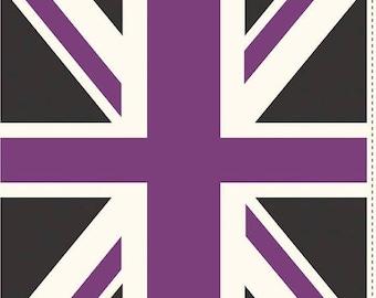 20EXTRA 50% OFF Riley blake Union Jack  Purple - Panel