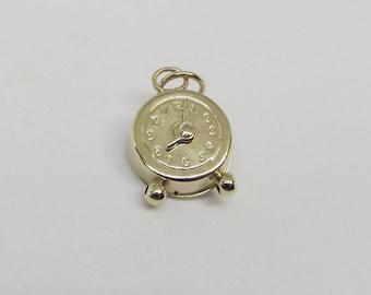 Vintage 14Kt Gold Clock Charm
