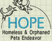 Hope Custom Digitized Embroidery Designs (private lisitng)