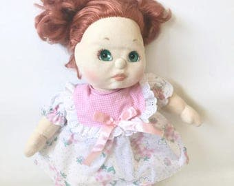 Vintage 1985 Mattel My Child Doll with Red Strawberry Hair Green Eyes