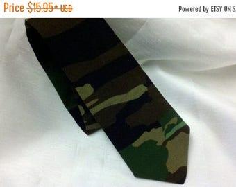 ON SALE CAMO Necktie All sizes -- Camouflage Necktie Men's Tie Wedding Party army hunting 100% cotton