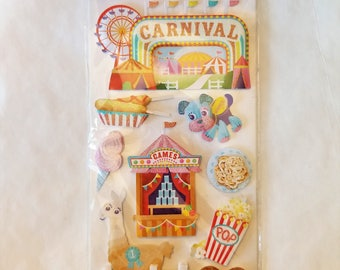 Carnival Stickers 3-D Dimensional by the Sticko