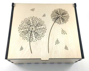 Dandelion Flower Essential Oil Box, 42 Slots, Essential Oil Storage, Aromatherapy Storage Box, Essential Oil Case, Essential Oil Organizer