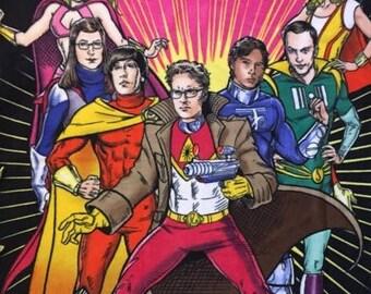 Big Bang Theory Fleece No-Sew Blanket