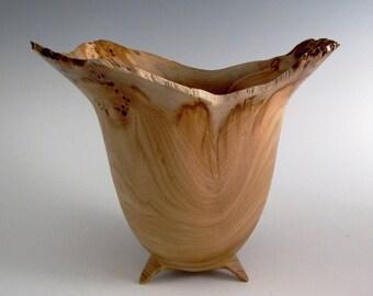 Red Elm Wood Turned Bowl - Wood Bowl - Wooden Bowl - Decorative Wood Bowl - Wedding Gift - Birthday Gift - Hand Turned Wood Bowl- OOAK