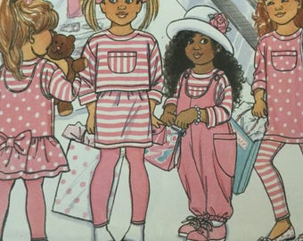Butterick Busybodies 4527 Childrens Jumpsuit, Jumper, Leggings, Skirt and Top, size 4-6, Uncut