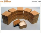 Mothers Day Sale 10 Pack Kraft Color Deep Cotton Filled Jewelry Gift Retail Boxes 3.5 X 3.5 X 2 Inch Size