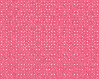 White Swiss Dot On Raspberry  (C670 Raspberry)