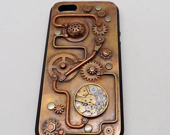 Steampunk iPhone SE case. Mobile phone case.  iPhone cover for 5, 5S, SE. iPhone case.