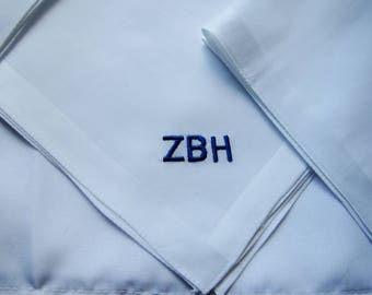 Custom Monogrammed Pocket Square for Groom, Groomsmen Gift, Faather of the Bride, Father of the Groom, Black Tie Affair